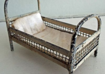 Antique-Short-Metal-Bed-With-Celluloid-Doll3