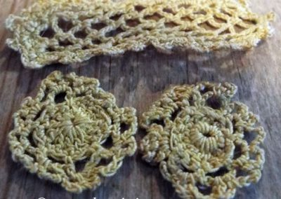 Two Vintage Blue Crocheted Mats & Lace Mat – Various Uses @ £3.50 RESERVED