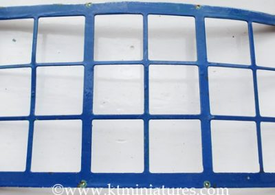 c1930s Larger Tri-ang Curved Metal Window Over Painted In Blue @ £24.00