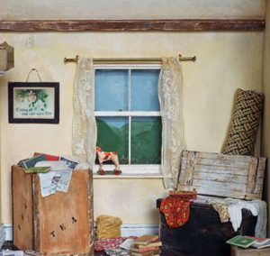 An Old Attic Scene In Miniature Workshop – Denman College – 1st – 3rd July 2020