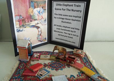 Little Elephant Train & Books Scene For The Nursery @ £35.00
