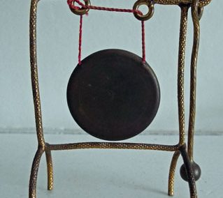 Rare Early 1900s Erhard & Söhne Ormolu Dinner Gong & Beater £45.00SOLD