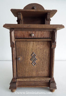 German-Antique-Oak-Cupboard
