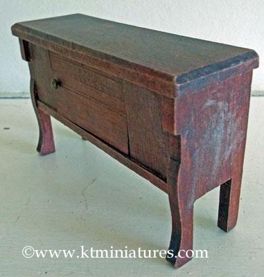 German-Miniature-Wooden-Sideboard4