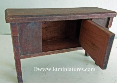 German-Miniature-Wooden-Sideboard7