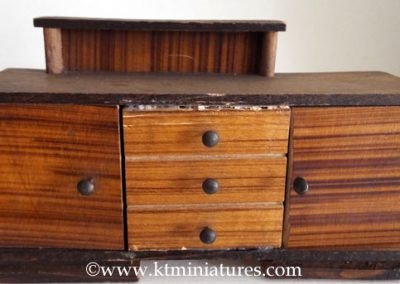 Chunky Vintage German Sideboard Cupboard With Non Opening Doors/Drawers @ £5.00