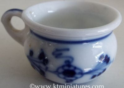 Antique White & Blue Floral China Chamber Pot @ £8.50 SOLD
