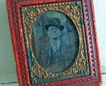 Victorian/Edwardian(?) Leather Framed Photo Of Gentleman @ £16.00 RESERVED