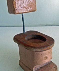 Unusual Vintage Wooden Pink Toilet @ £10.50