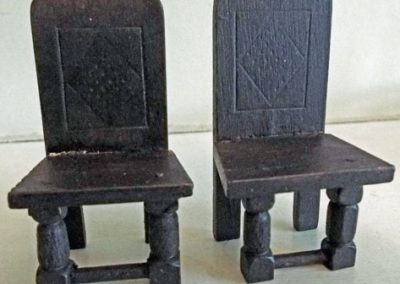 Pair Of Vintage Barton Tudor Dining Chairs @ £9.50SOLD