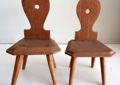 Late 1800s Pair Of German Kitchen Chairs Large Scale @ £19.00