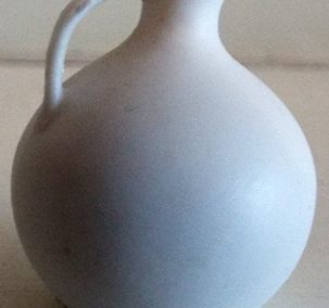 Unusual Stunning Bulbous Shaped Early 1900s Parian Ware Type White Jug @ £9.50