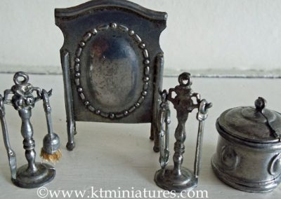 c1930s T&B Fireside Companion Set Plus Fireguard & Coal Box @ £45.00 SOLD