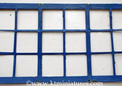 c1930s Larger Tri-ang Metal Window Over Painted In Blue @ £24.00