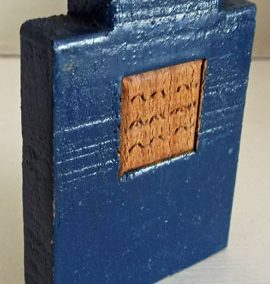 Unusual Blue Wooden Vintage Gas/Electric Fire @ £8.50