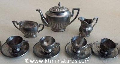 c1920s/30s German Art Deco Metal Tea Set (15 pieces plus lid) @ £34.00 SOLD