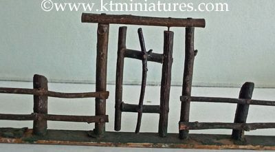c1930s Miniature Wooden Fence & Gate @ £7.50