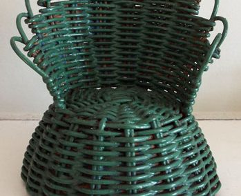 Vintage Green Cane Chair Large Scale @ £8.00