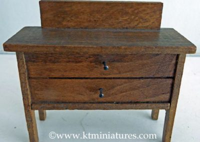 Vintage German Wooden Dressing Table Missing Mirror @ £4.50 SOLD