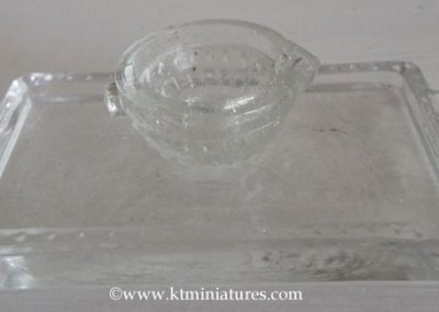 Unusual Large Scale Decorative Art Deco Pressed Glass Tray Plus Glass Jug @ £14.50