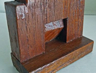 Small Varnished Wooden Vintage Fireplace @ £7.00