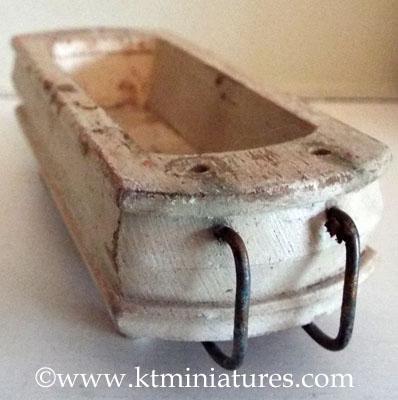vintage German miniature wooden bath