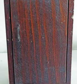 Vintage Dark Varnished Wardrobe @ £8.95