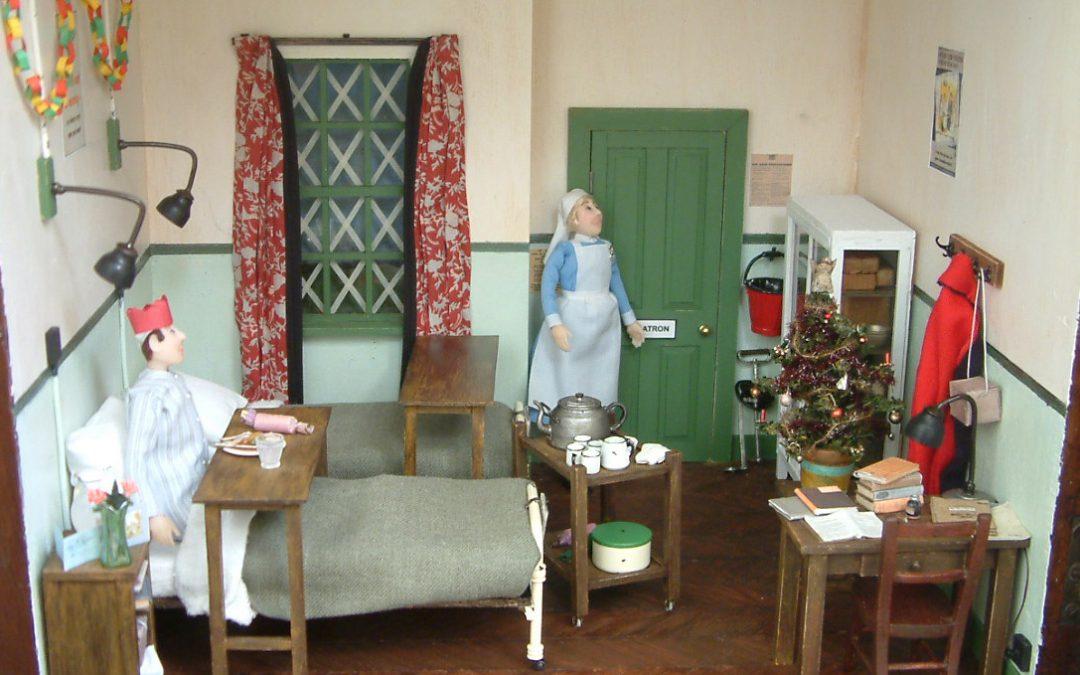 WW2 Hospital Ward At Christmas Time