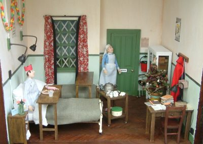 WW2 Hospital Ward At Christmas Time